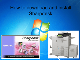 How to Setup SharpDesk