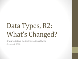 Data Types R1 to R2 Presentation
