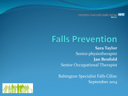 Falls Prevention presentation