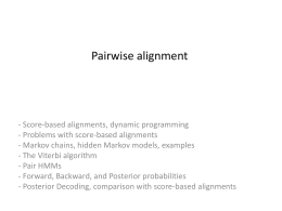 4 Pairwise alignment