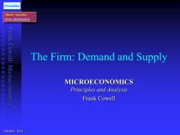 Firm: Demand and Supply