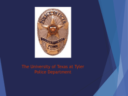Campus Security Authority - The University of Texas at Tyler