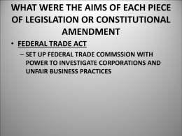 what were the aims of each piece of legislation or constitutional