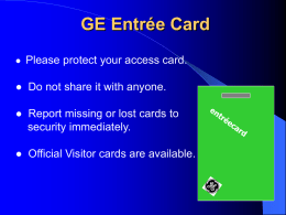 GE Entrée Card - JohnEriksen.net