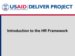 Introduction to HR Framework