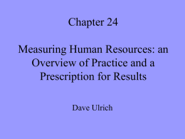 Chapter 24 Measuring Human Resources: an Overview of Practice