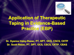 Application of Proprioceptive Taping in Evidence