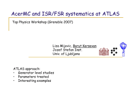 AcerMC and ISR/FSR systematics at ATLAS