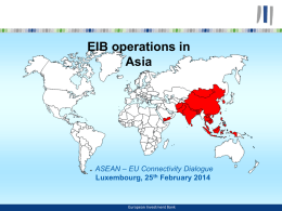 EIB EU support to ASEAN