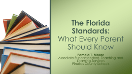 The Florida Standards - Lakewood High School