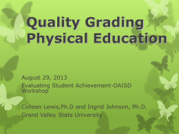 Quality Grading Physical Education