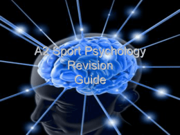 PE A2 Psychology of Sport revision guide
