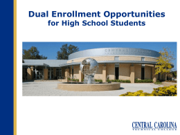 The South Carolina Lottery and Dual Enrolled High School Students
