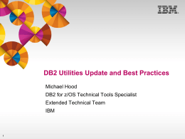 DB2 Utilities Update