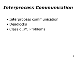 Classic IPC - Operating Systems