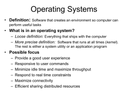 cs459 - Operating Systems: Introduction