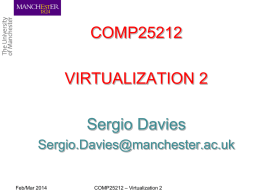 System Virtualization 1