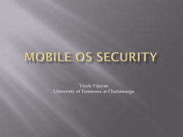 Mobile OS Security model comparision