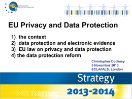 "Powerpoint: ""EU Privacy and Data Protection"""