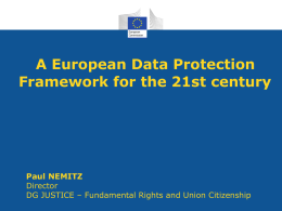 The Data Protection Regulation (II)
