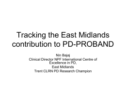 Tracking the Nottingham contribution to PD-PROBAND