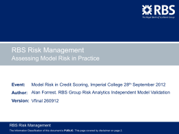 RBS Risk Management  template