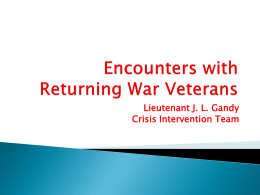 Encounters With Returning War Veterans - NAMI-NC