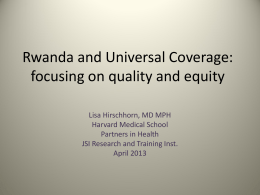 Slides - Harvard University: Program in Ethics & Health