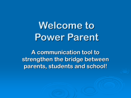 Power Parent PowerPoint