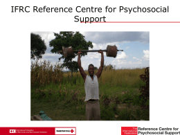 IFRC Reference Centre for Psychosocial Support