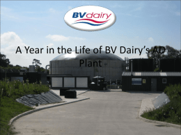 BV Dairy: The AD Plant - South Wessex Waste Minimisation Group