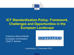 ICT Standardisation Policy