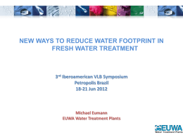 New Ways to Reduce Water Footprint in Fresh Water