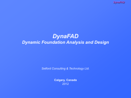 DynaFAD Dynamic Foundation Analysis and Design