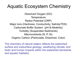 Physicochemical Parameters Affecting Aquatic Ecosystems