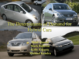 The Determinants of Hybrid Car Sales