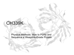 Lecture Slides for Physical Methods