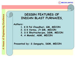 design features of indian blast furnaces