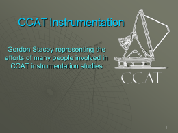 CCAT will have multi-object spectrometers!