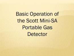 Scott Mini-SA CO Detector