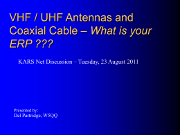 Antennas and Coax.pps - Katy Amateur Radio Society