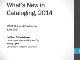 WhatsNew2014_June03 - 2014 MOBIUS Annual Conference