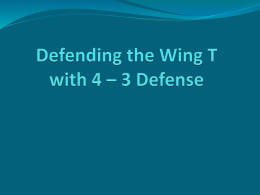 Defending the Wing T Offense with 4 – 3 Defense