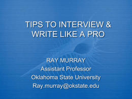 Tips to Interview & Write Like a Pro