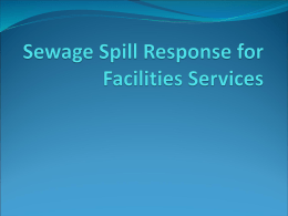 Sewage Spill Response for Facilities Services