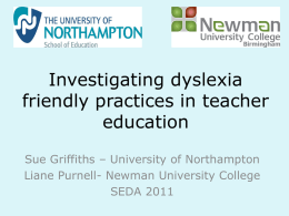 Investigating dyslexia-friendly practices in teacher education