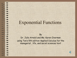 Section 5.1: Exponential Functions