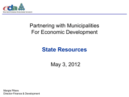 EDA New Jersey`s - New Jersey State League of Municipalities