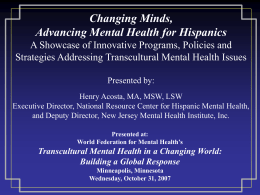 New Jersey Mental Health Institute, Inc.