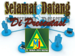 power poin mja - Makin Jaya Agung
